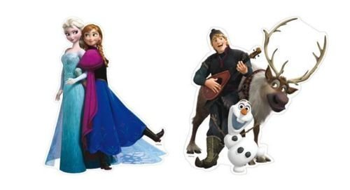 2 Frozen Party Cut Outs