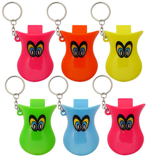 6 Duck Whistle Keyrings