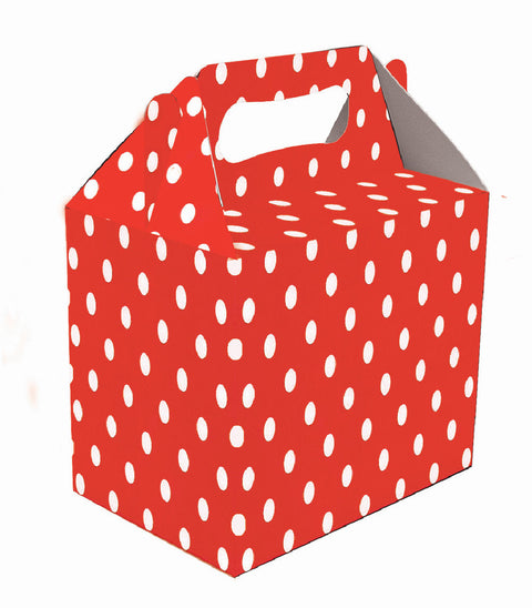 6 Red Polka Dot Boxes
