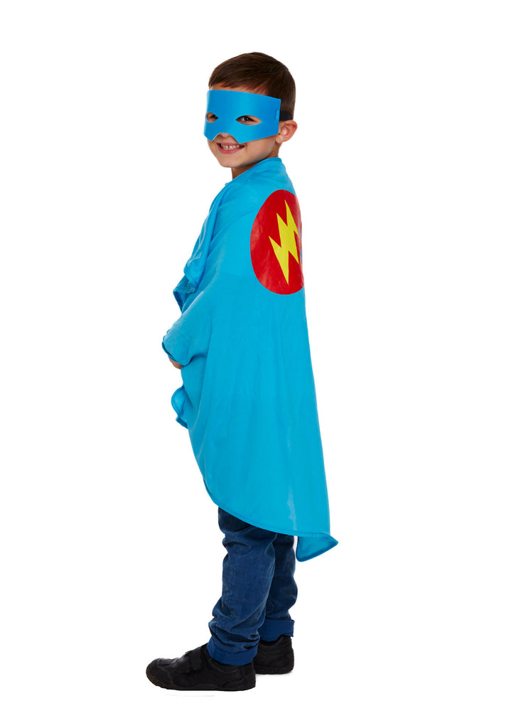 Childs Super Hero Costume - Blue - Party Perfecto