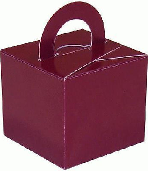 10 Burgundy Balloon Boxes - Party Perfecto
