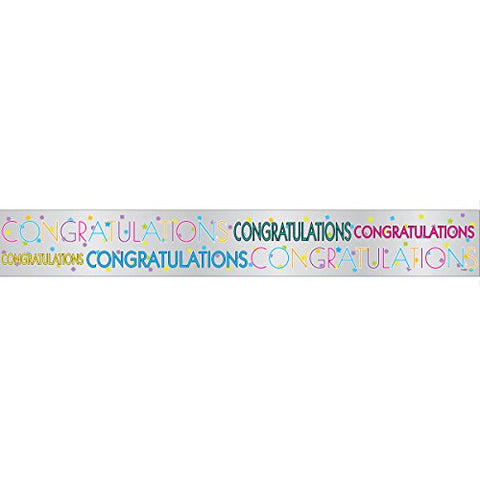Congratulations 12ft Foil Banner