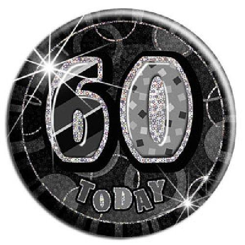 60 Today - Black Big Badge - Party Perfecto