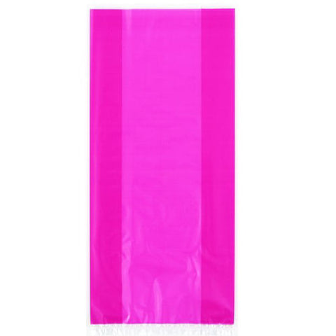 30 Hot Pink Cellophane Gift Bags