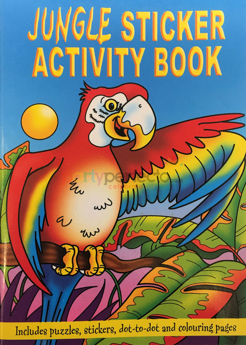 6 Jungle Sticker Activity Books