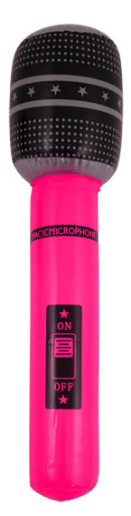 Inflatable 66cm Pink Microphone