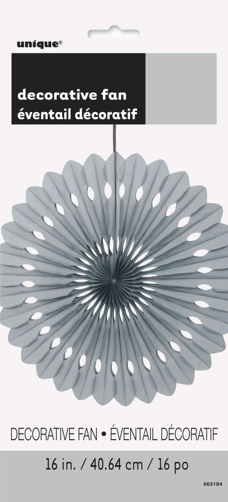 Silver Paper Fan Decoration