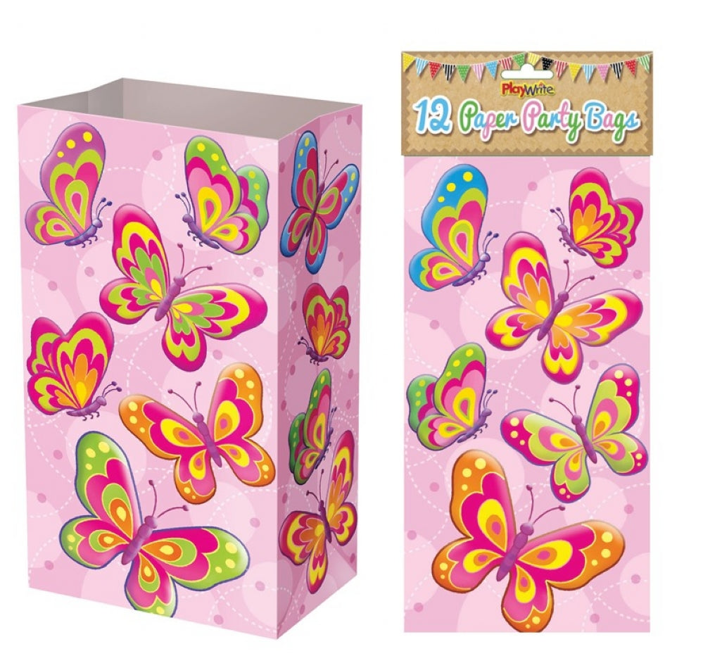 12 Butterfly Paper Bags - Party Perfecto
