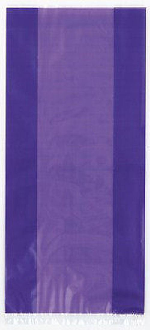 30 Purple Cellophane Gift Bags