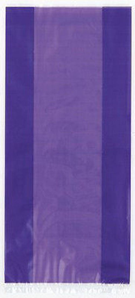30 Purple Cellophane Gift Bags - Party Perfecto