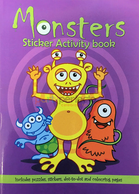 6 Monster Sticker Activity Books