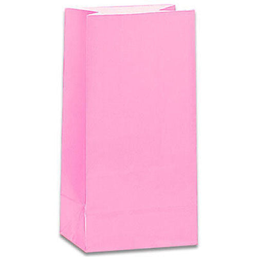 12 Pastel Pink Paper Gift Bags - Party Perfecto