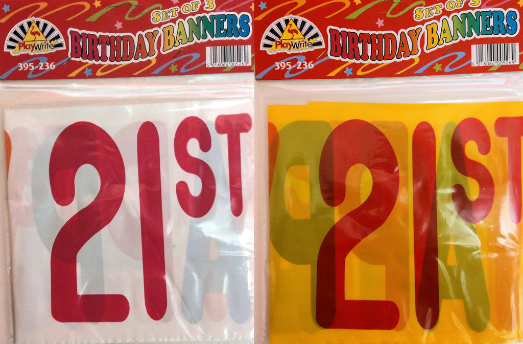 Happy 21st Birthday Banners