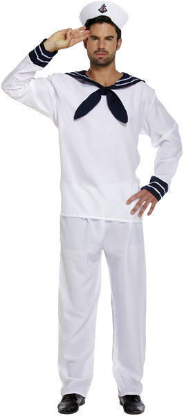 Adult Male White Sailor Costume