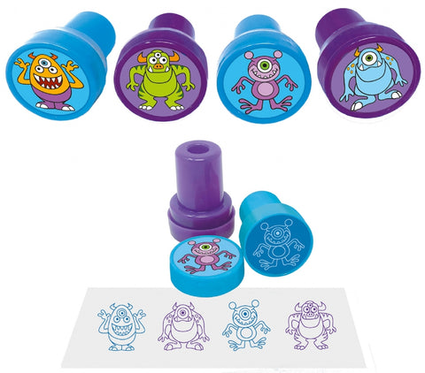 6 Monster Ink Stamps