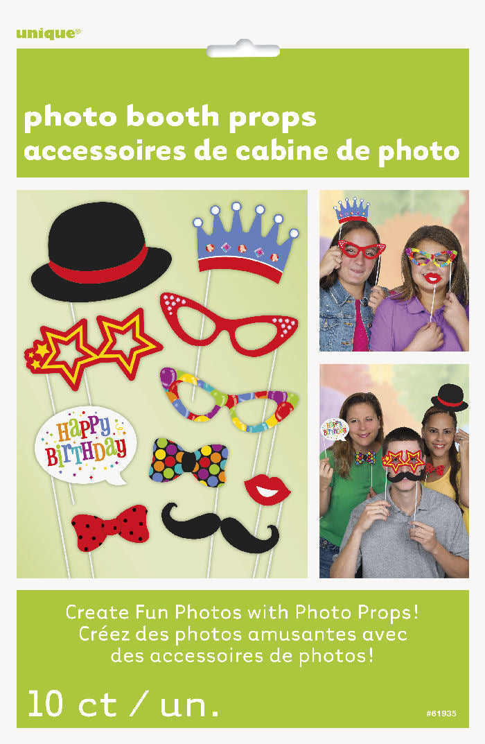 10 Birthday Photo Props - Party Perfecto