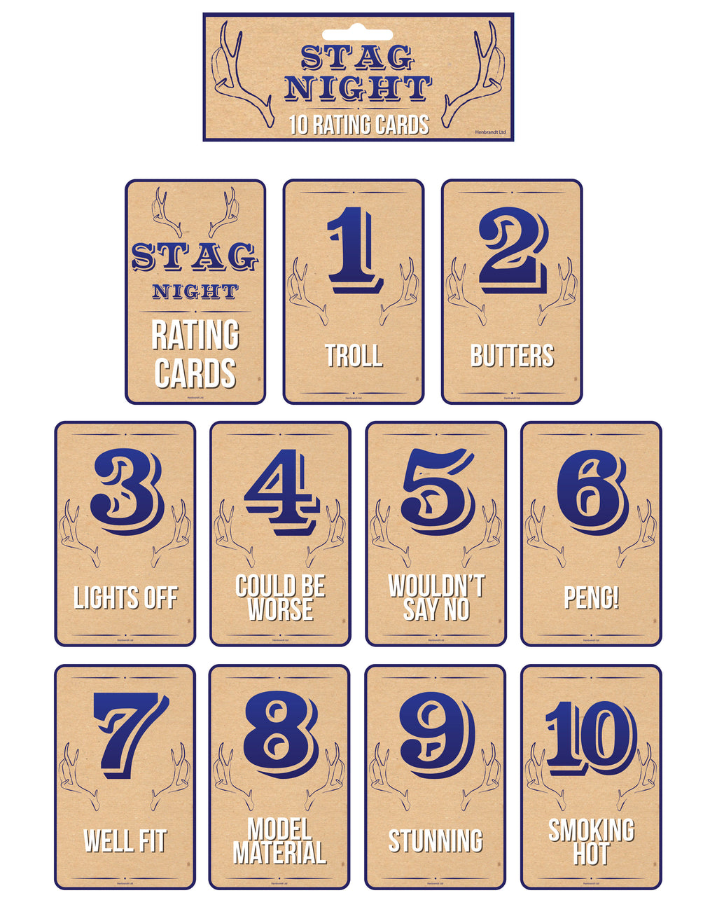 Stag Night Rating Card Game