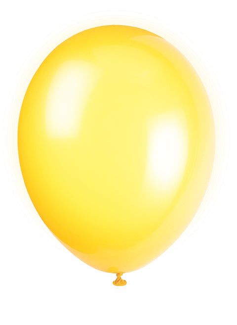 10 Lemon Yellow Latex Balloons - Party Perfecto