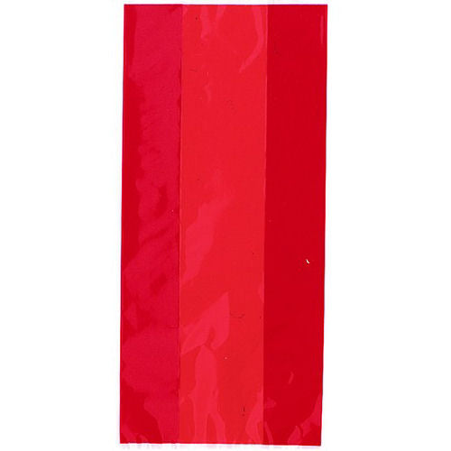 30 Ruby Red Cellophane Gift Bags