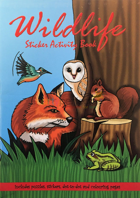 6 Wildlife Sticker Activity Books