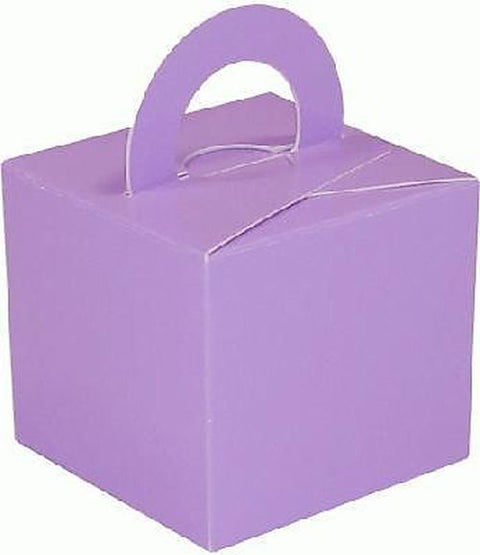 10 Lavender Balloon Boxes - Party Perfecto