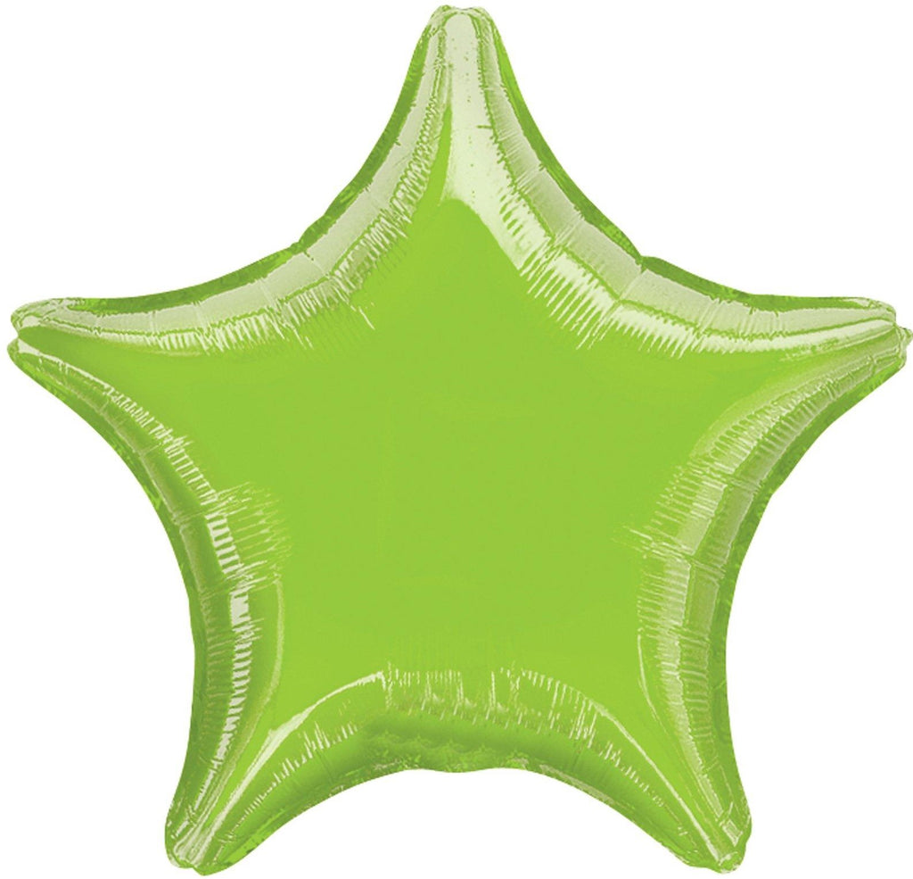Lime Green Foil Star Balloon