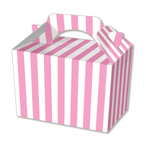 10 Pink Stripe Boxes