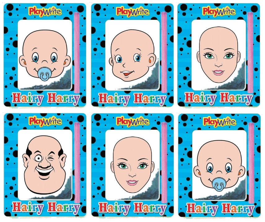 6 Magnetic Hairy Harry's