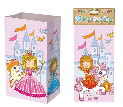 12 Princess Paper Bags - Party Perfecto