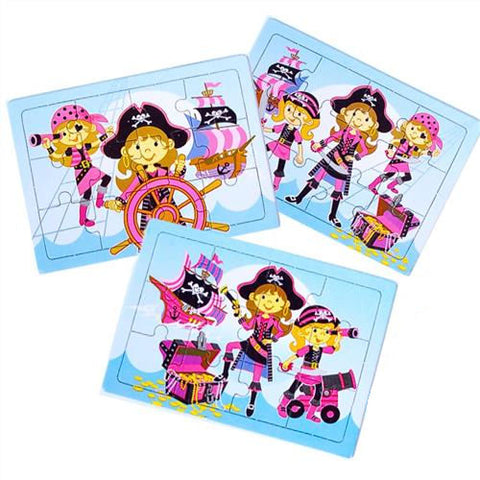 6 Pink Pirate Jigsaw Puzzles