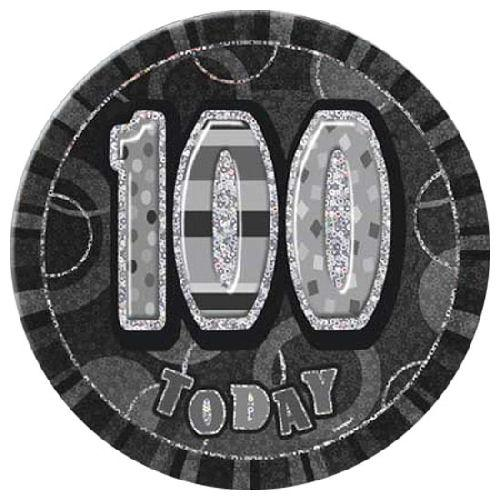 100 Today - Black Big Badge - Party Perfecto