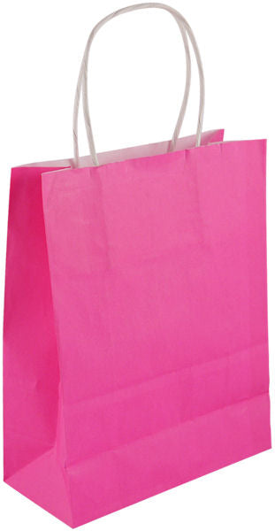 6 Large Hot Pink Party Bags