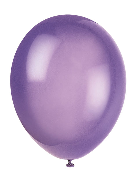 10 Midnight Purple Latex Balloons