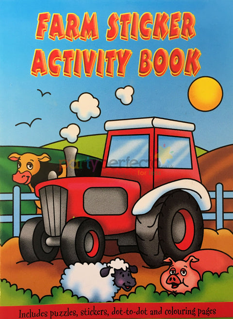 6 Farm Sticker Activity Books
