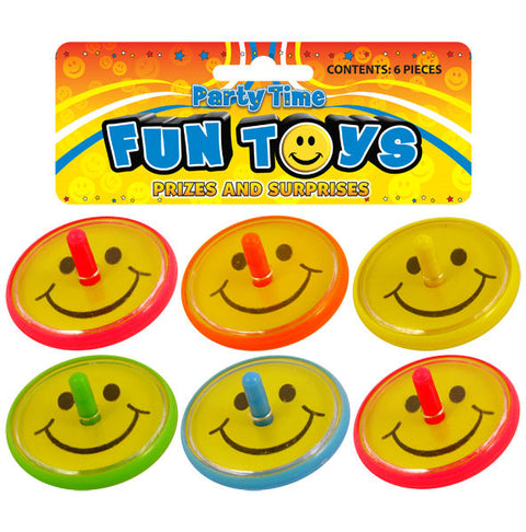 6 Smile Spinning Tops