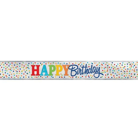 Happy Birthday 12ft Foil Banner