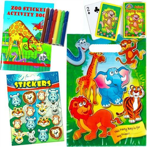 Zoo Animal - Filled Party Bag - Party Perfecto