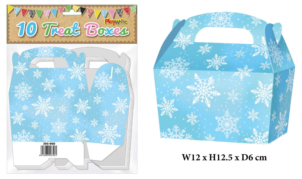 10 Snowflake Treat Boxes