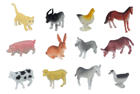 6 Plastic Farm Animals