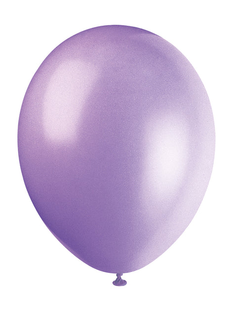 10 Lilac Lavender Latex Balloons - Party Perfecto