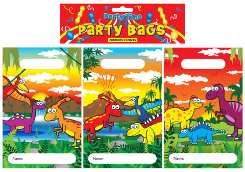 12 Dinosaur Empty Party Bags