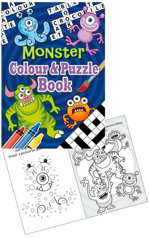 6 Monster Colour & Puzzle Books