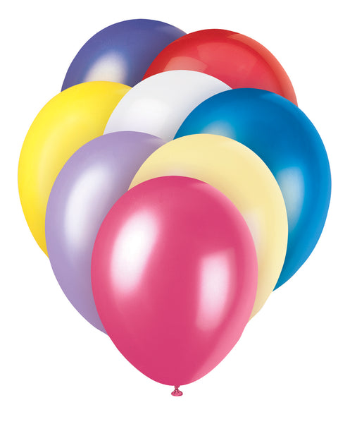 10 Assorted Standard Latex Balloons - Party Perfecto