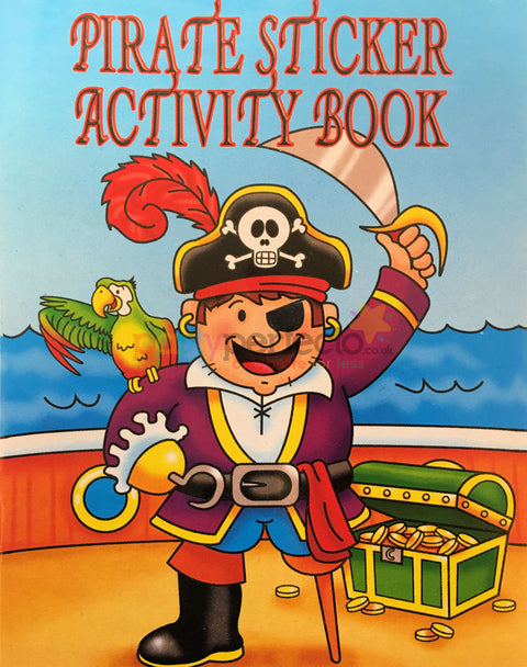 6 Pirate Sticker Activity Books