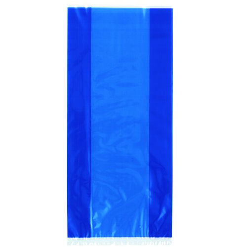 30 Royal Blue Cellophane Gift Bags