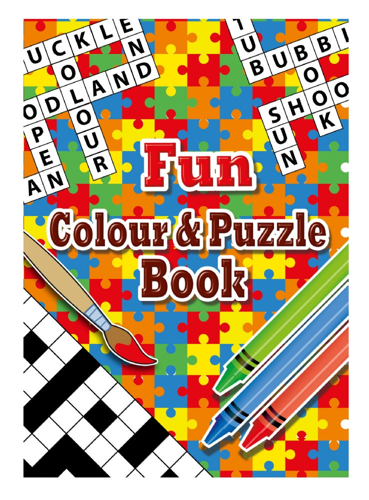 6 Fun Colour & Puzzle Books