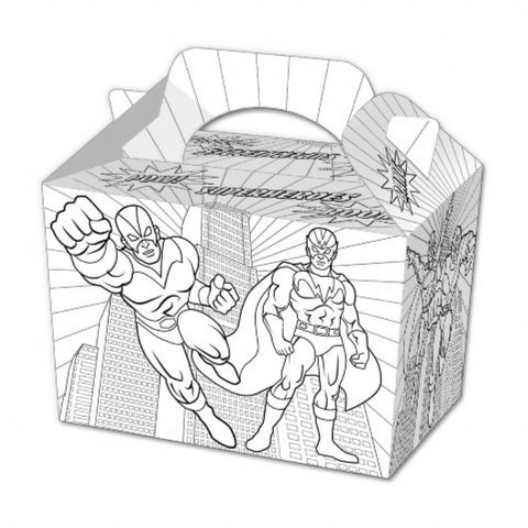10 Colour In Super Hero Boxes