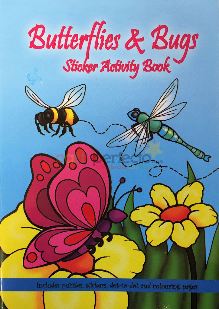 6 Butterfly & Bugs Sticker Activity Books - Party Perfecto