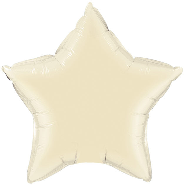 Ivory Foil Star Balloon