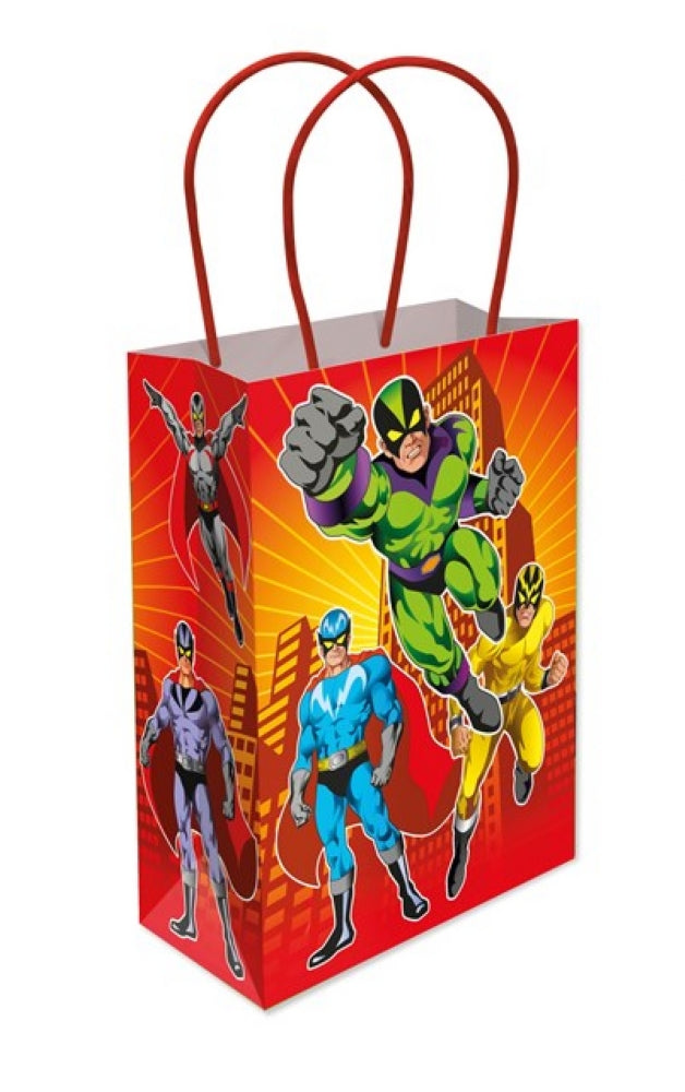 6 Super Hero Paper Handle Bags
